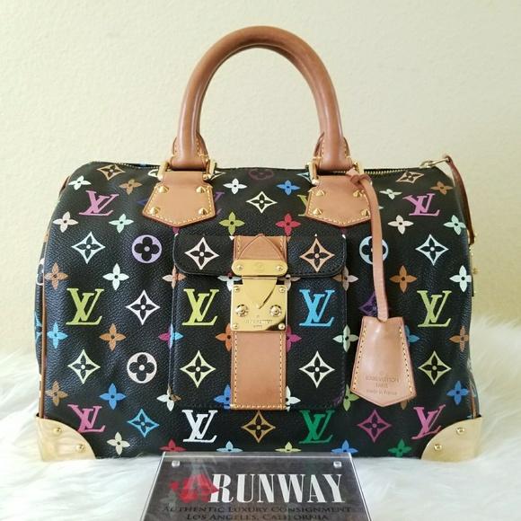 204941649644 Louis Vuitton Handbags - Louis Vuitton Speedy 30 Monogram Multicolor Black